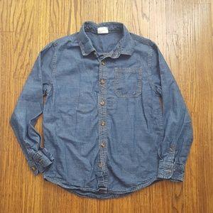 3/$15 Boys Denim Chambray Button Down Shirt 10 12